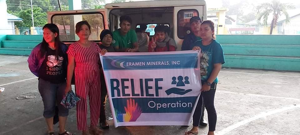 typhoon ineng relief operations - Eramen Minerals Inc.