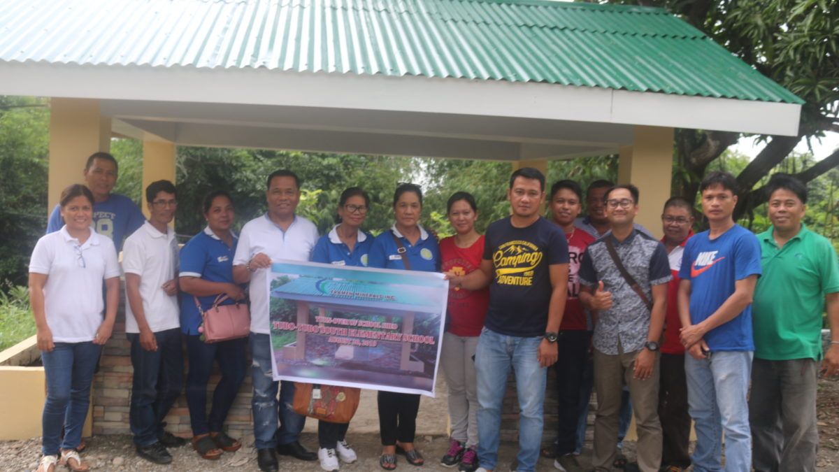 In an on-going project with Brgy. Tubo-Tubo South, Eramen Mineral Inc. conducted a turn-over ceremony last August 20, 2019 for the shed they constructed for the Tubo-Tubo South Elementary School. Present were the Tubo-Tubo South Barangay Council, - Eramen Minerals Inc.